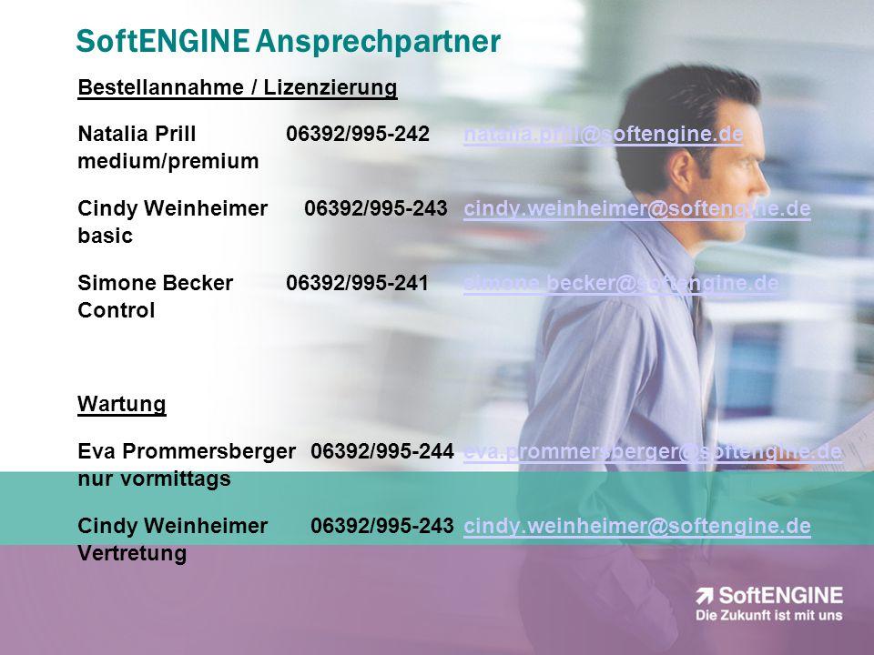 SoftENGINE Ansprechpartner