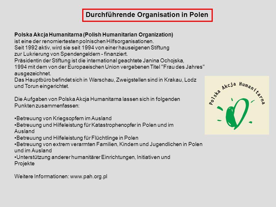 Durchführende Organisation in Polen