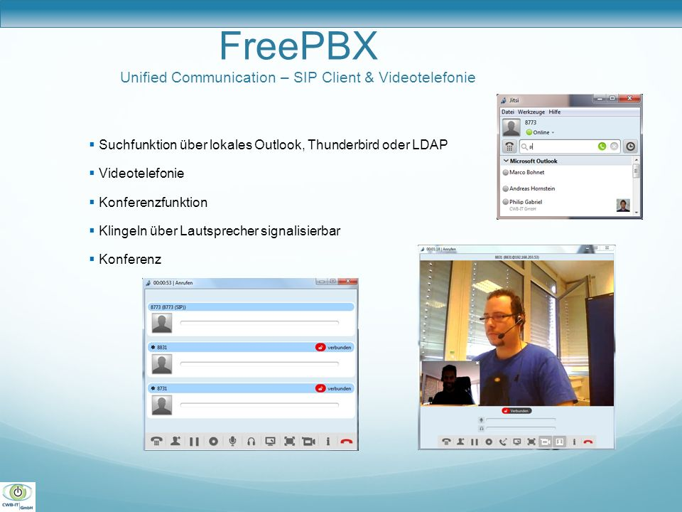 FreePBX Unified Communication – SIP Client & Videotelefonie