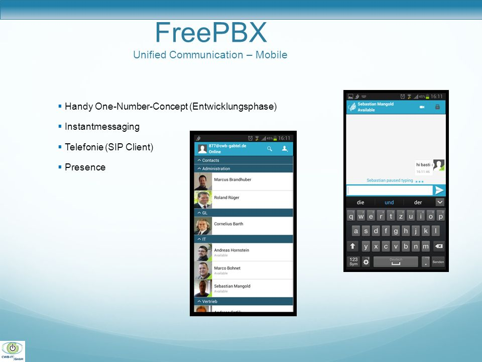 FreePBX Unified Communication – Mobile