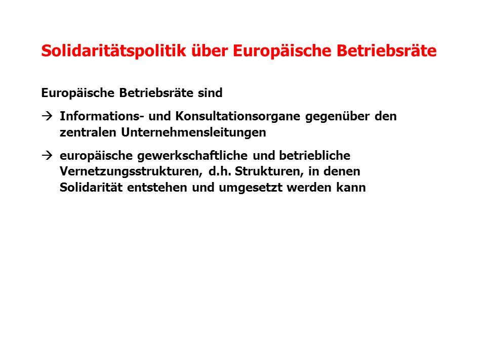 Solidaritätspolitik über Europäische Betriebsräte