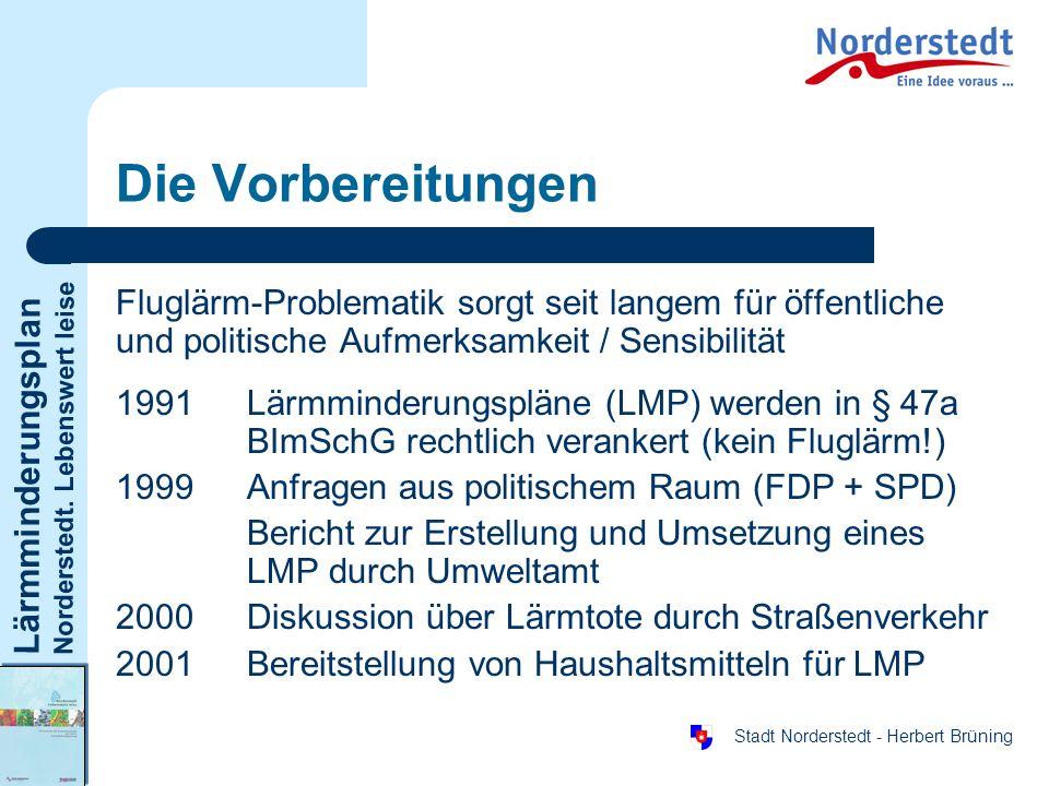 Die VorbereitungenFluglärm-Problematik sorgt seit langem für öffentliche und politische Aufmerksamkeit / Sensibilität.