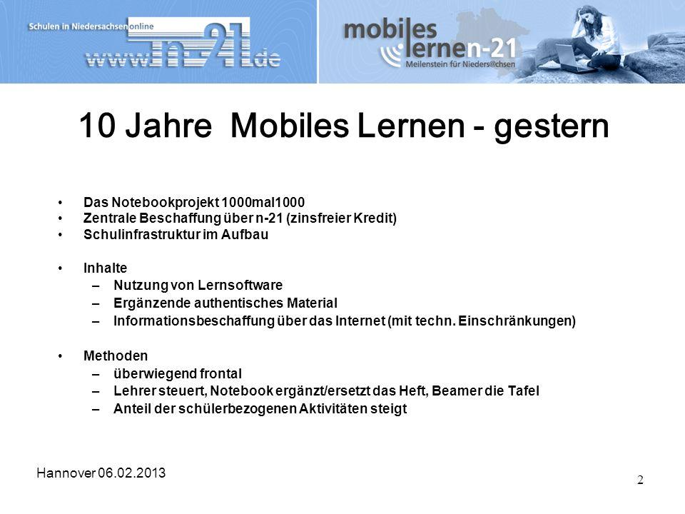 10 Jahre Mobiles Lernen - gestern
