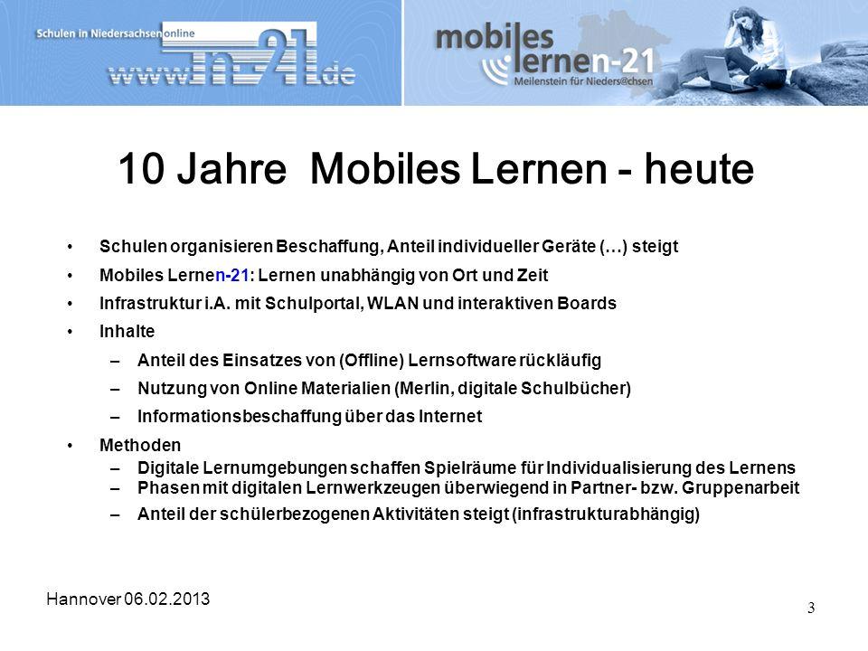 10 Jahre Mobiles Lernen - heute