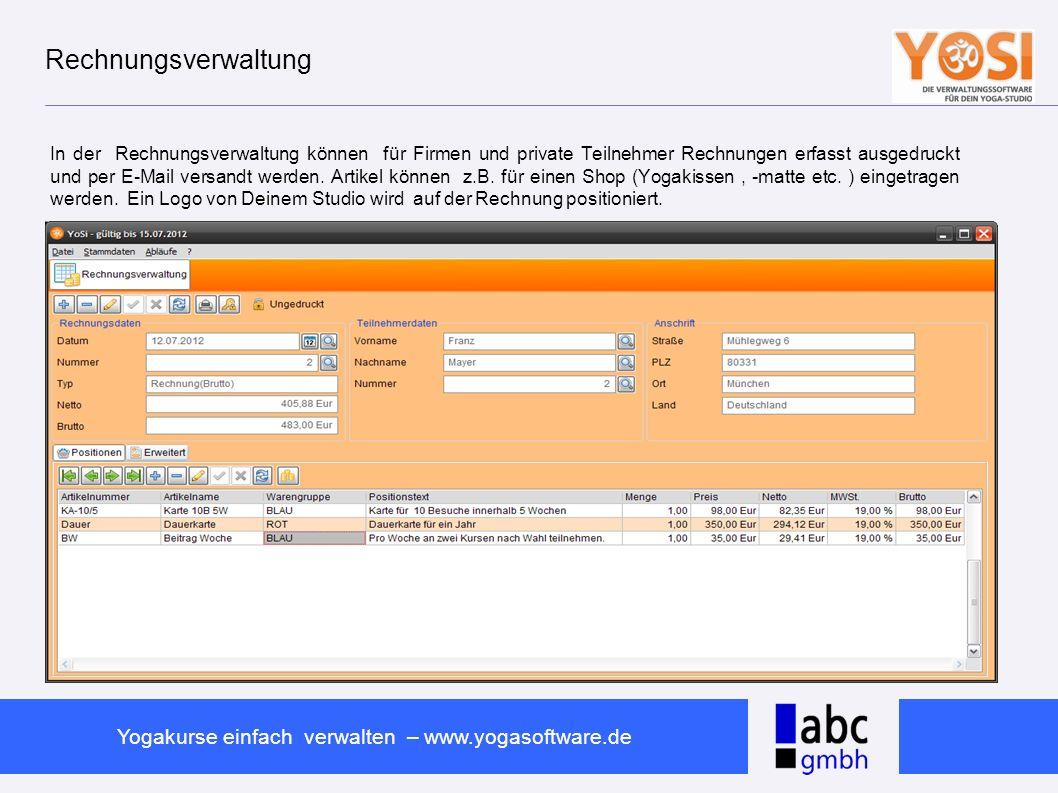 Rechnungsverwaltung
