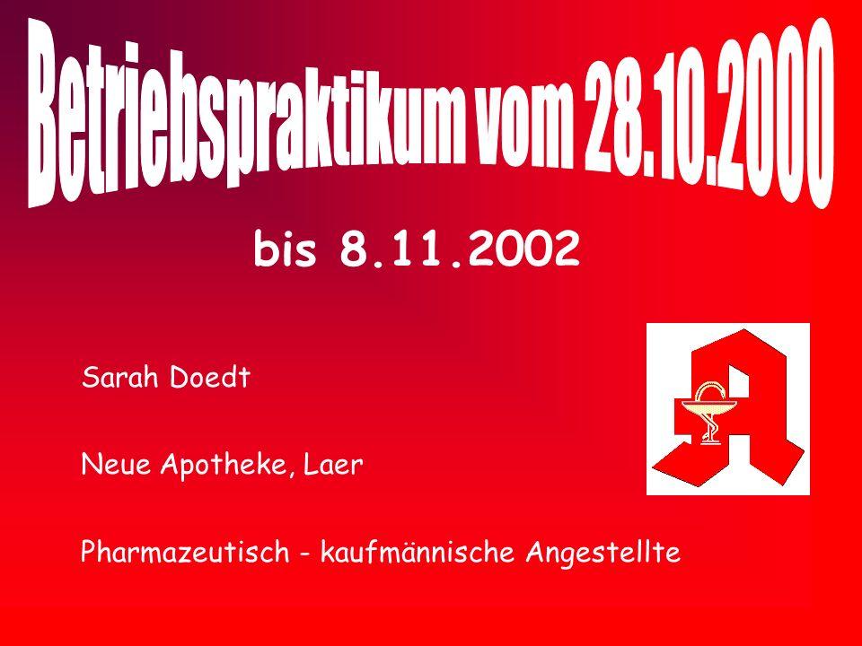 Betriebspraktikum vom 28.10.2000