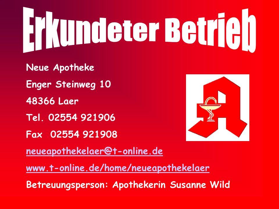 Erkundeter Betrieb Neue Apotheke Enger Steinweg 10 48366 Laer
