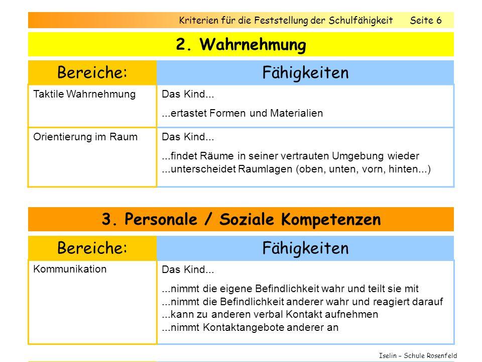 3. Personale / Soziale Kompetenzen