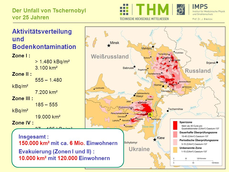 Aktivitätsverteilung und Bodenkontamination