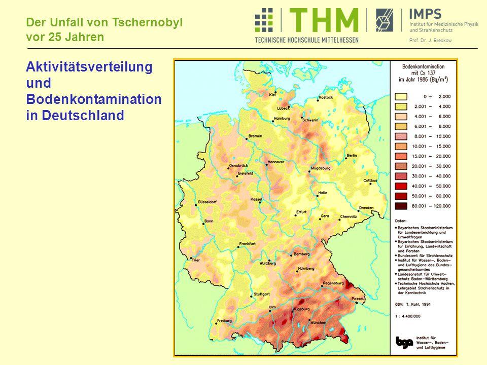 Aktivitätsverteilung und Bodenkontamination in Deutschland