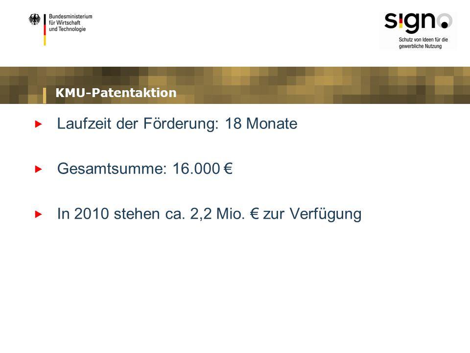 Laufzeit der Förderung: 18 Monate Gesamtsumme: 16.000 €