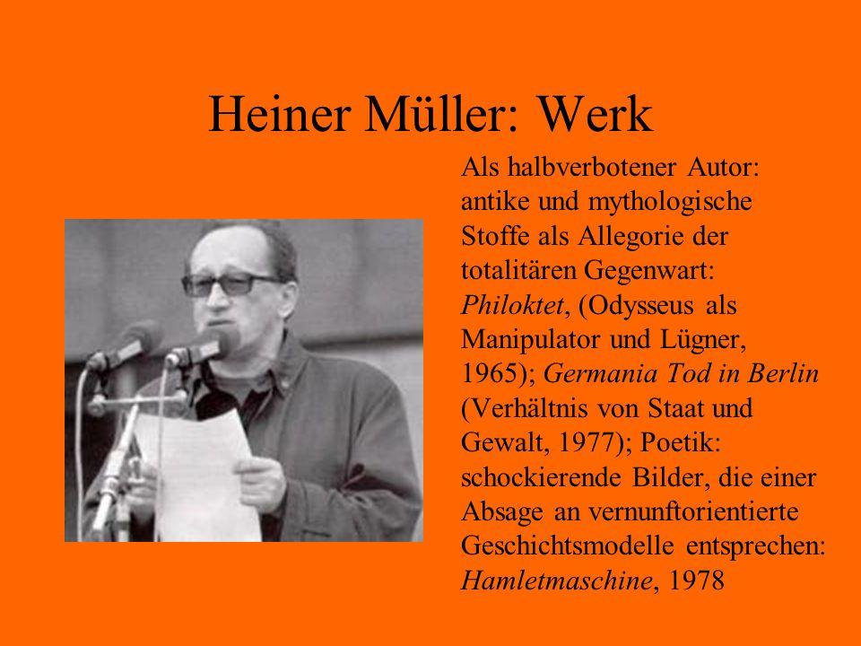 Heiner Müller: Werk