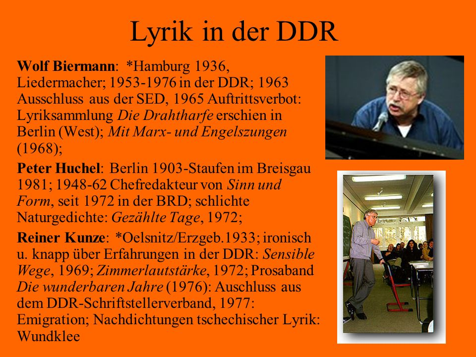 Lyrik in der DDR
