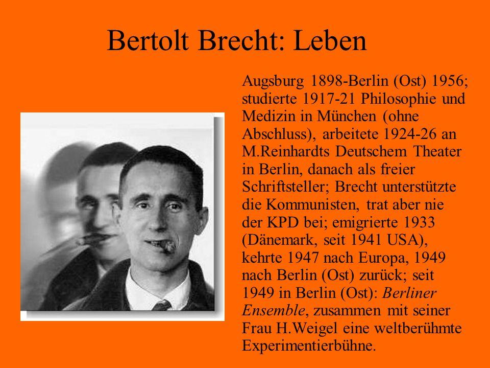 Bertolt Brecht: Leben
