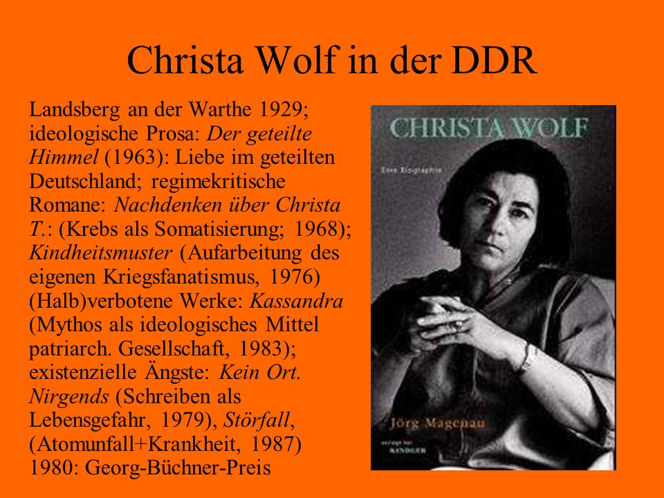 Christa Wolf in der DDR
