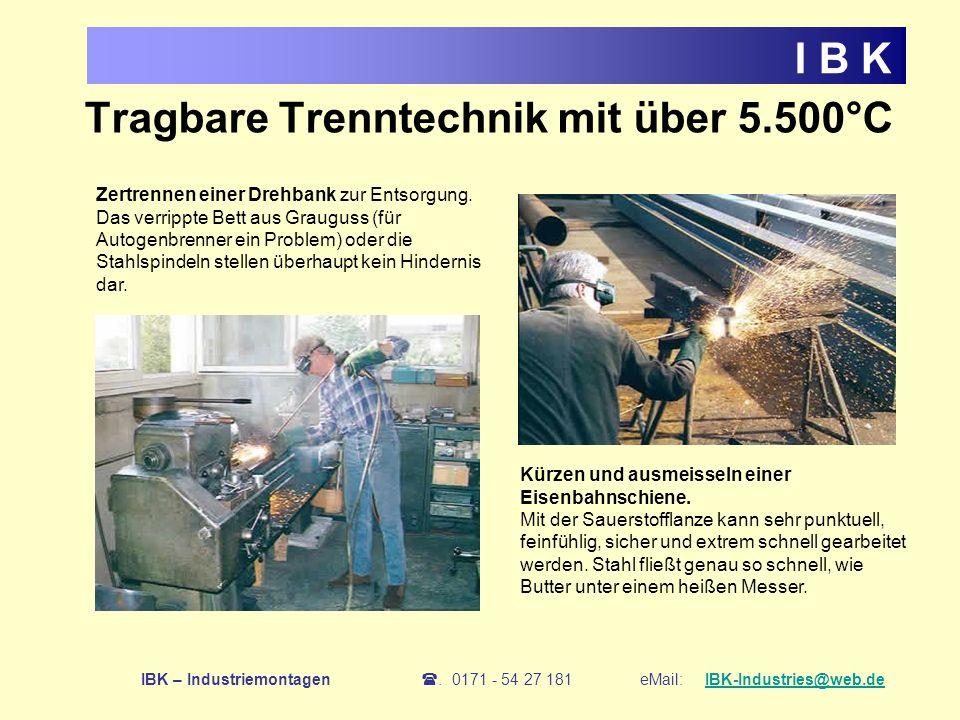 Tragbare Trenntechnik mit über 5.500°C