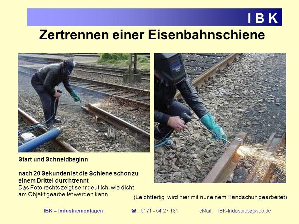 Zertrennen einer Eisenbahnschiene
