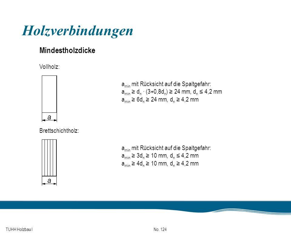 Holzverbindungen Mindestholzdicke Vollholz:
