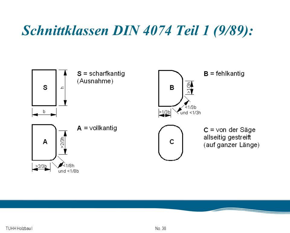 Schnittklassen DIN 4074 Teil 1 (9/89):
