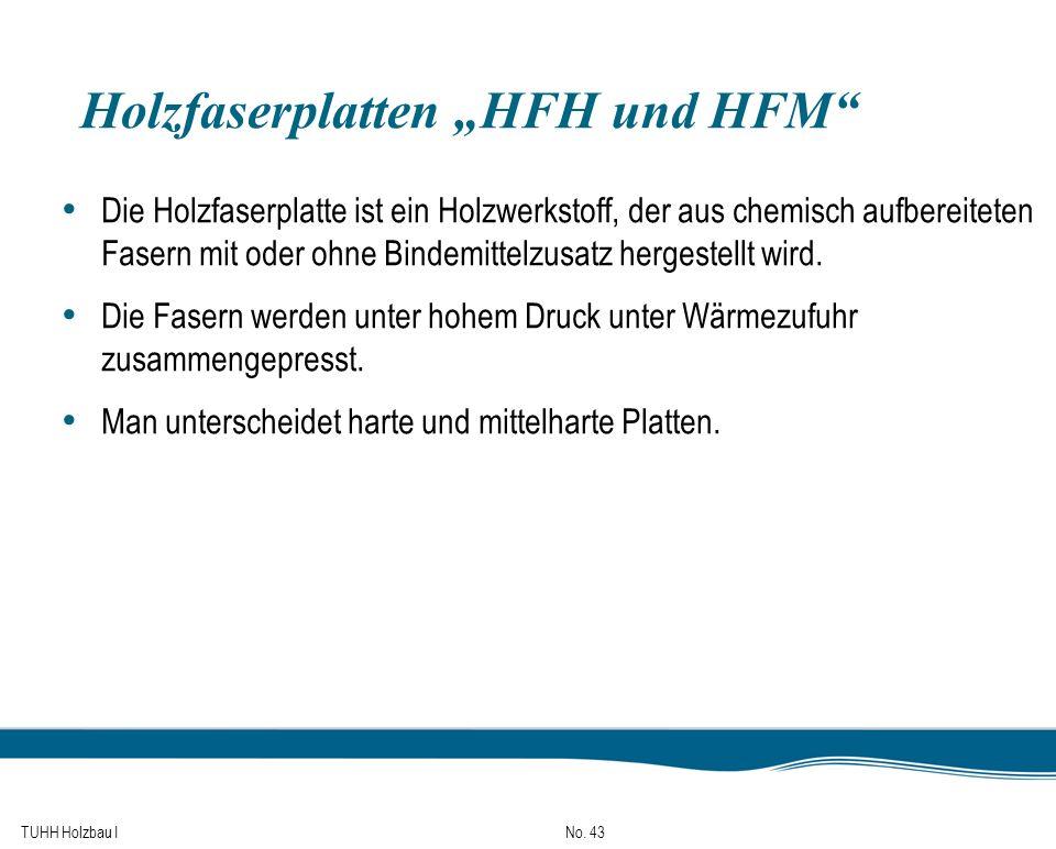 """Holzfaserplatten """"HFH und HFM"""