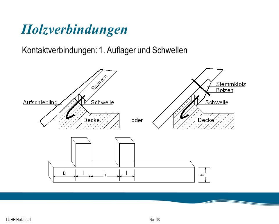Holzverbindungen Kontaktverbindungen: 1. Auflager und Schwellen