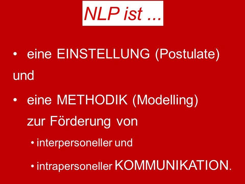 NLP ist ... eine EINSTELLUNG (Postulate) und