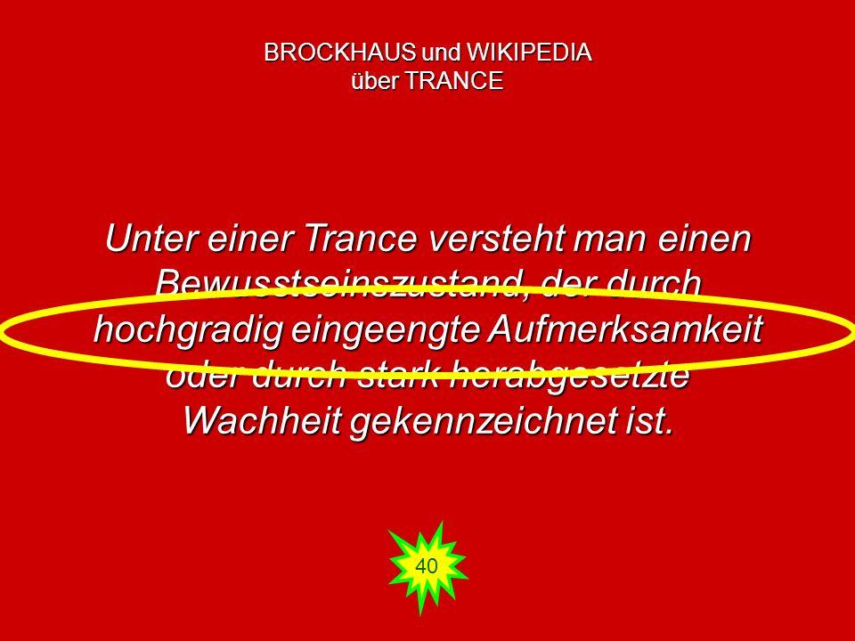 BROCKHAUS und WIKIPEDIA