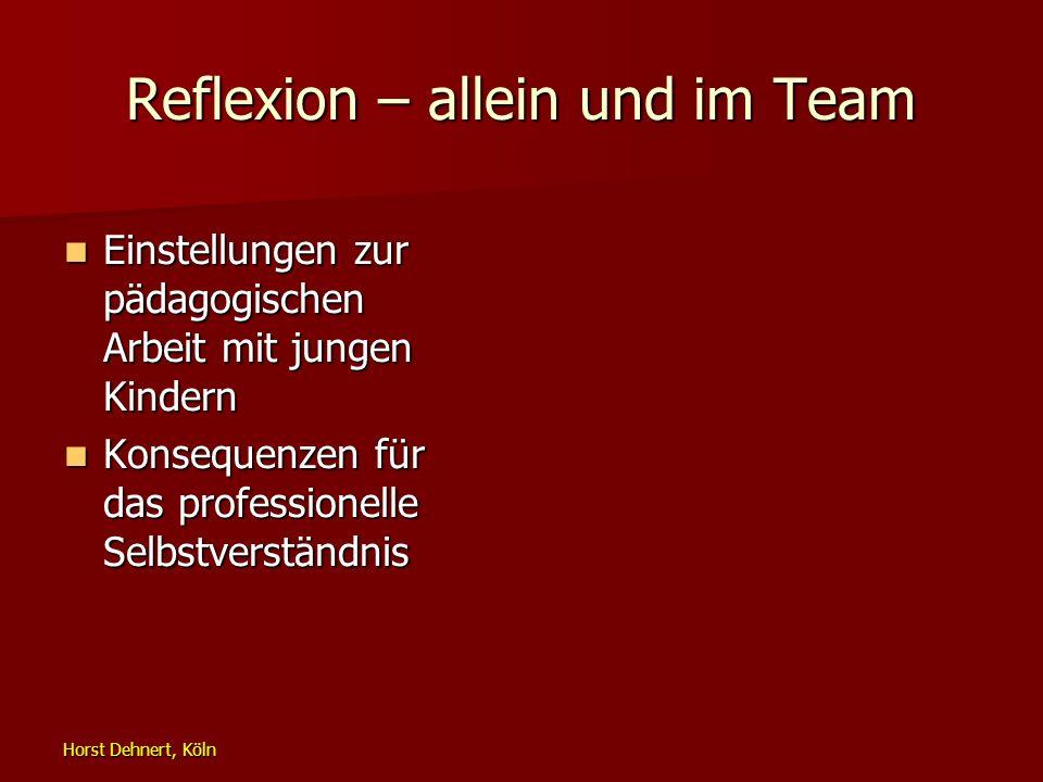 Reflexion – allein und im Team