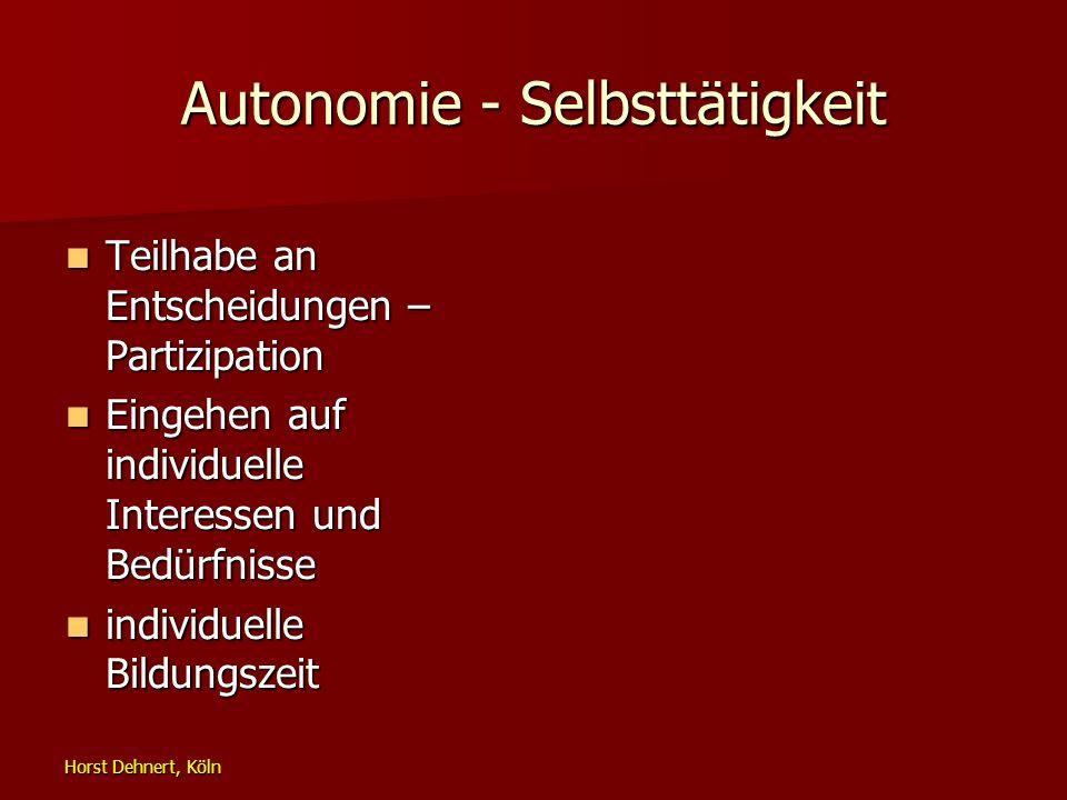 Autonomie - Selbsttätigkeit
