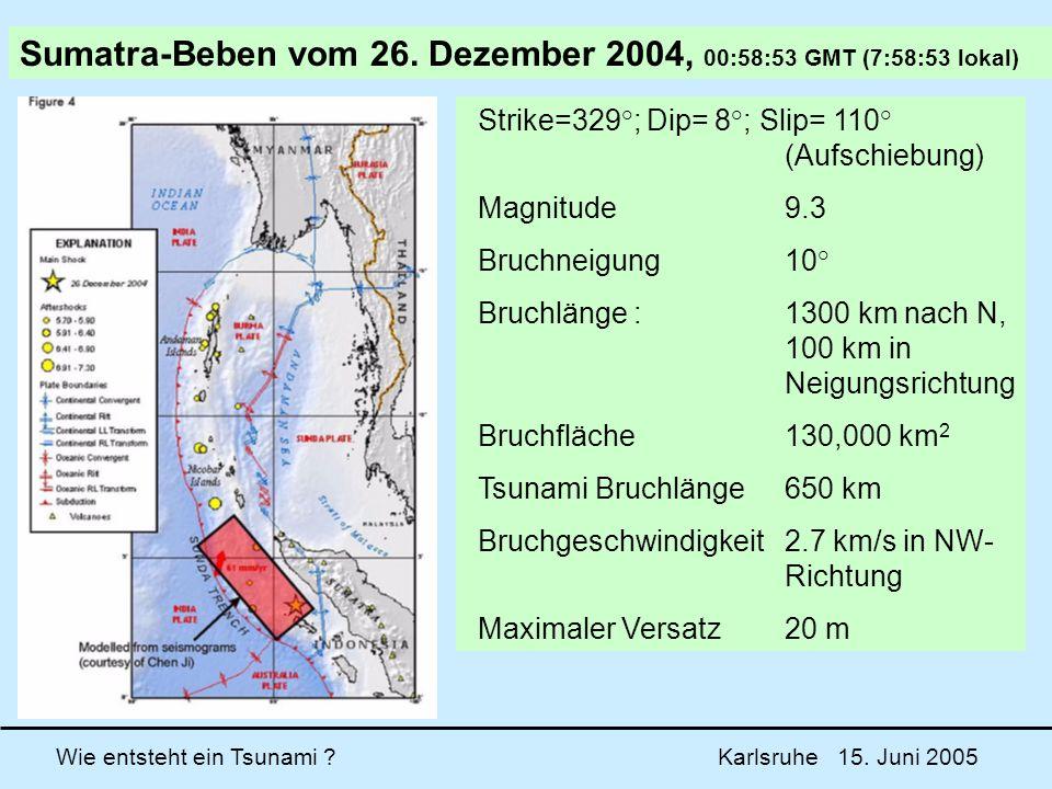 Sumatra-Beben vom 26. Dezember 2004, 00:58:53 GMT (7:58:53 lokal)