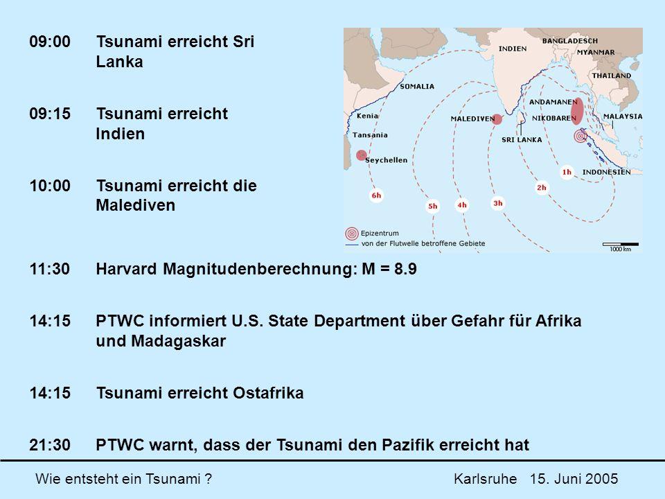 09:00 Tsunami erreicht Sri Lanka