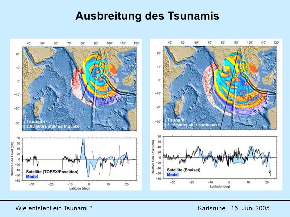 Ausbreitung des Tsunamis