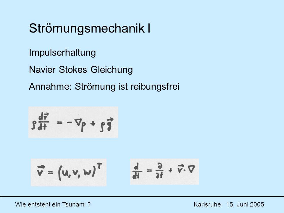Strömungsmechanik I Impulserhaltung Navier Stokes Gleichung