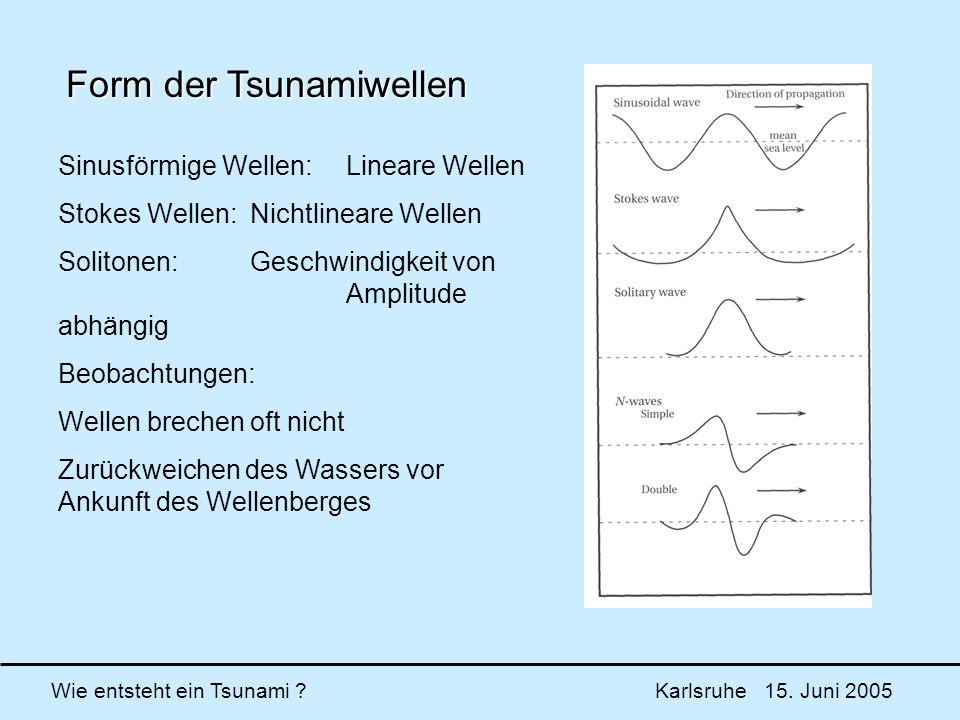 Form der Tsunamiwellen