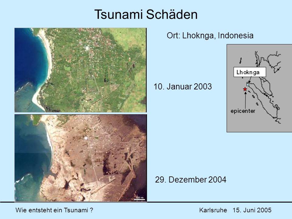 Tsunami Schäden Ort: Lhoknga, Indonesia 10. Januar 2003