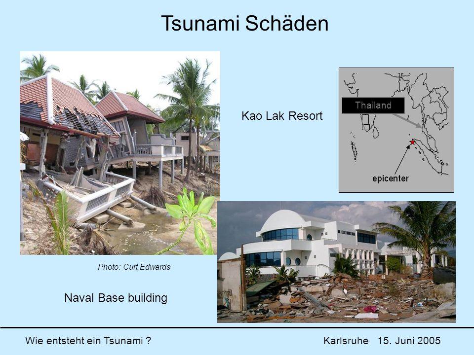 Tsunami Schäden Kao Lak Resort Naval Base building Thailand