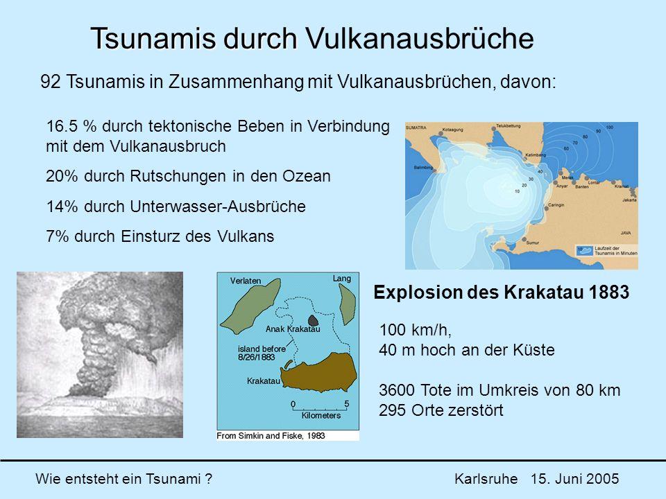 Tsunamis durch Vulkanausbrüche