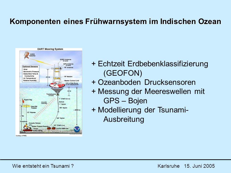 Komponenten eines Frühwarnsystem im Indischen Ozean