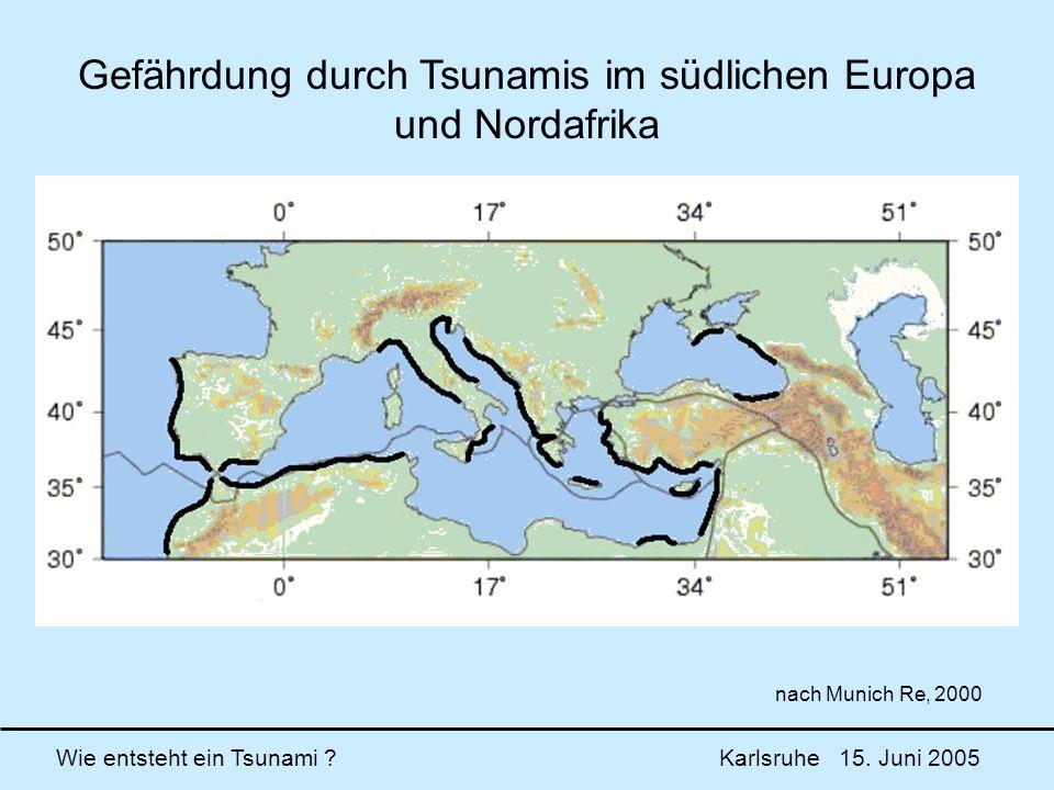 Gefährdung durch Tsunamis im südlichen Europa und Nordafrika