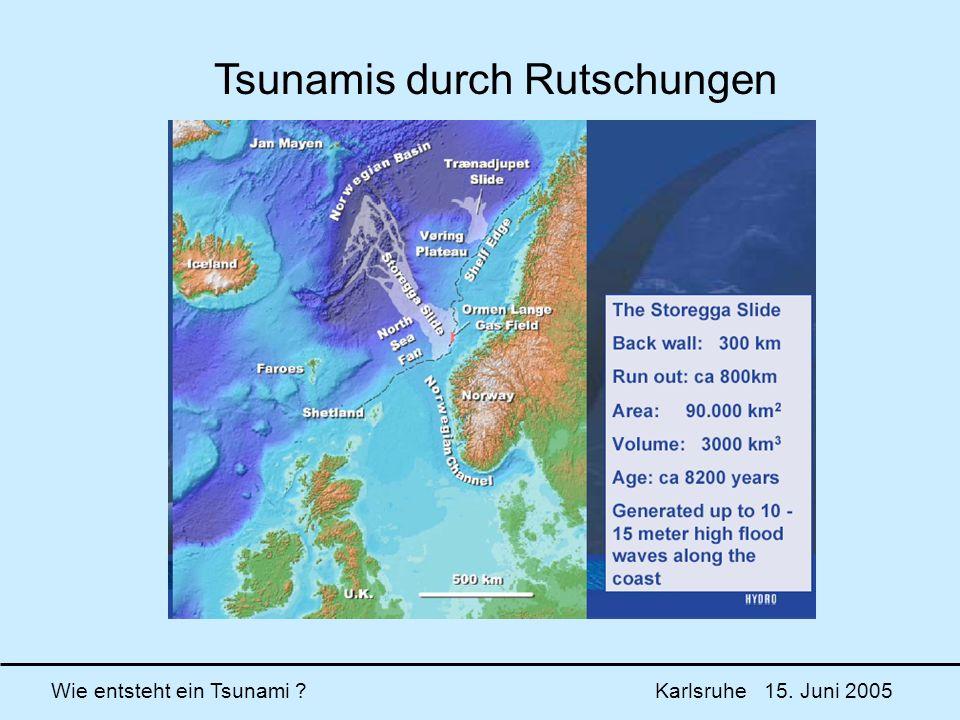 Tsunamis durch Rutschungen