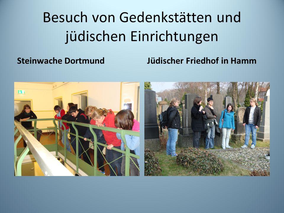 Besuch von Gedenkstätten und jüdischen Einrichtungen