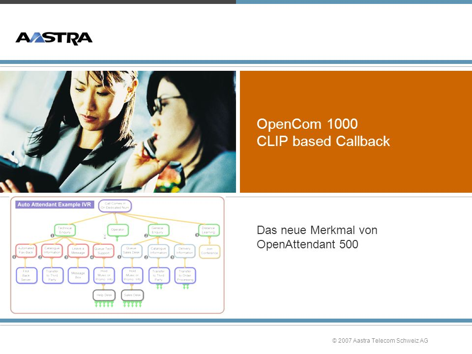 OpenCom 1000 CLIP based Callback
