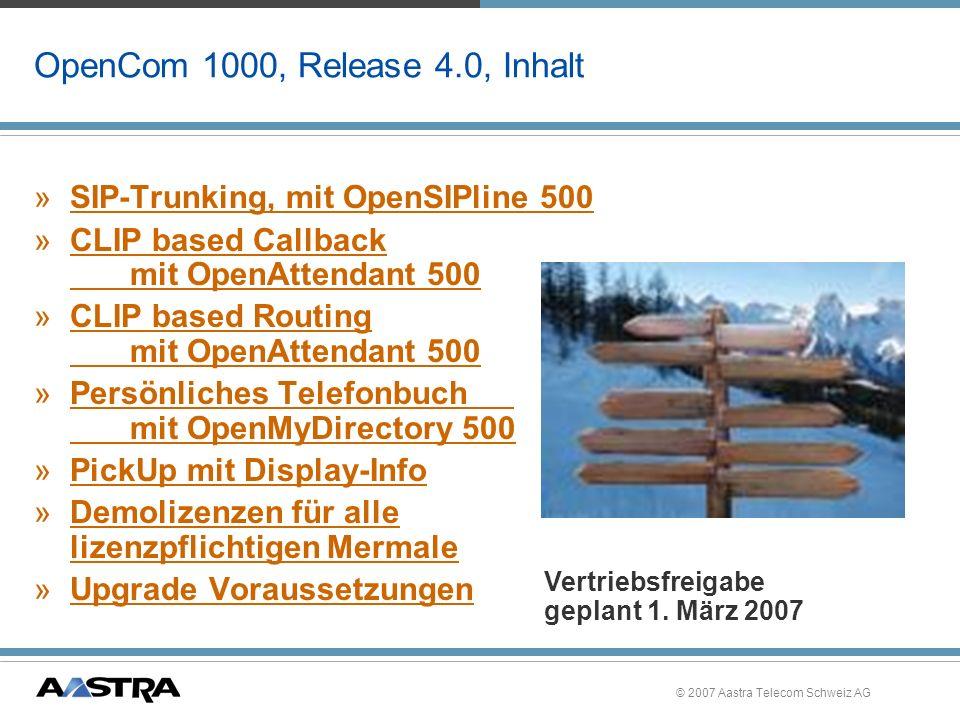 OpenCom 1000, Release 4.0, Inhalt