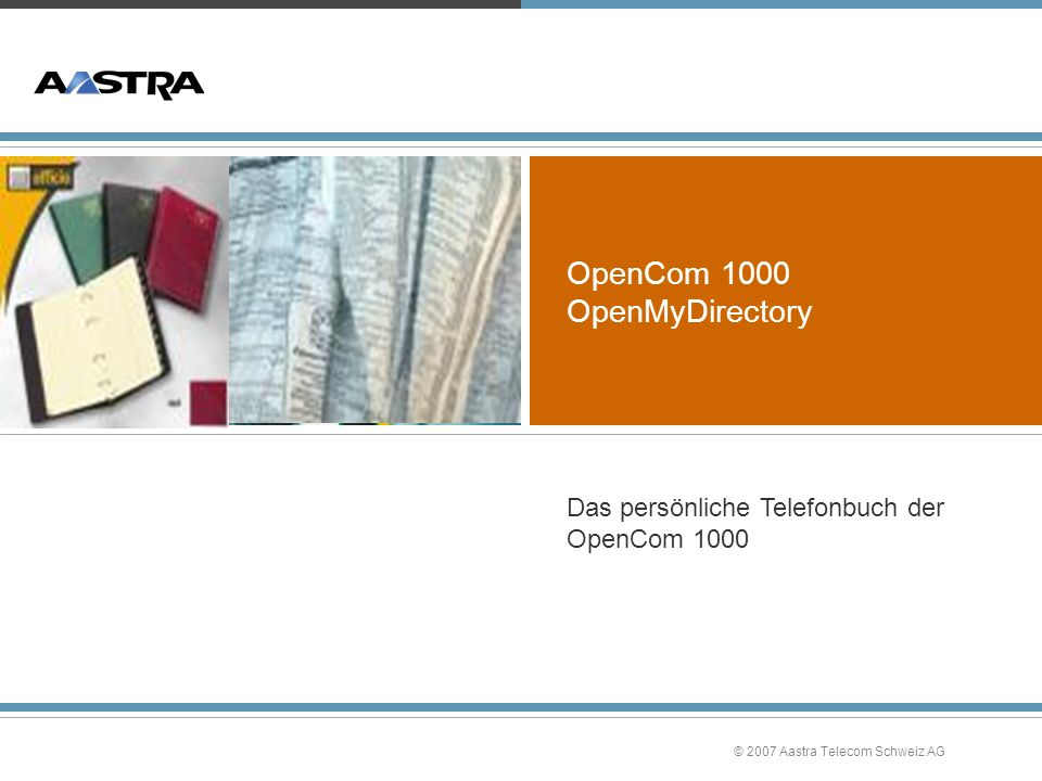 OpenCom 1000 OpenMyDirectory