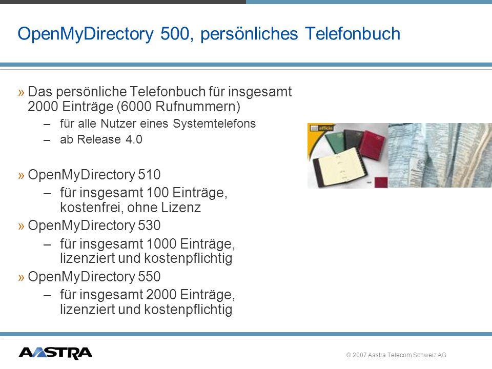 OpenMyDirectory 500, persönliches Telefonbuch
