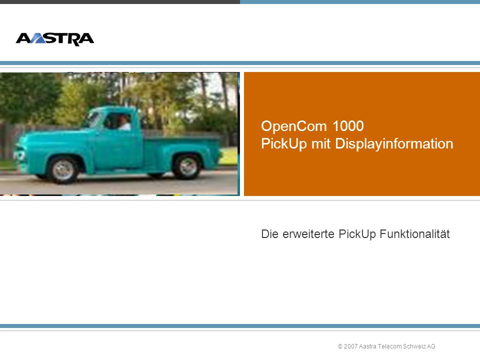 OpenCom 1000 PickUp mit Displayinformation