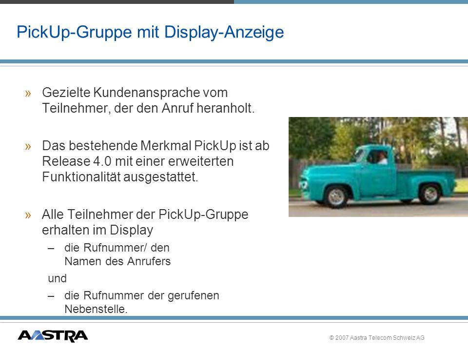 PickUp-Gruppe mit Display-Anzeige
