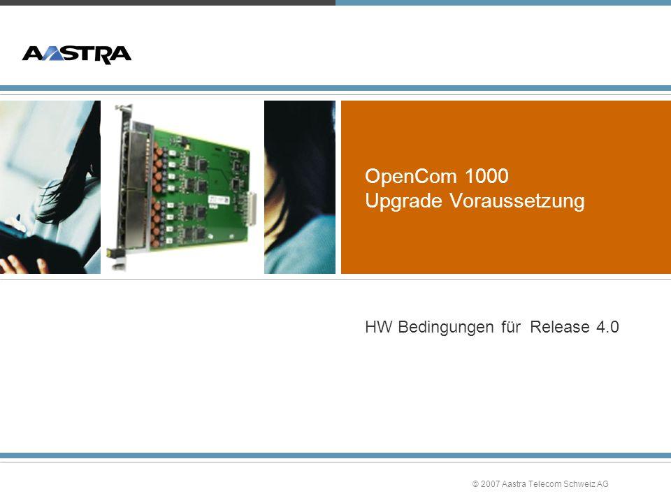 OpenCom 1000 Upgrade Voraussetzung