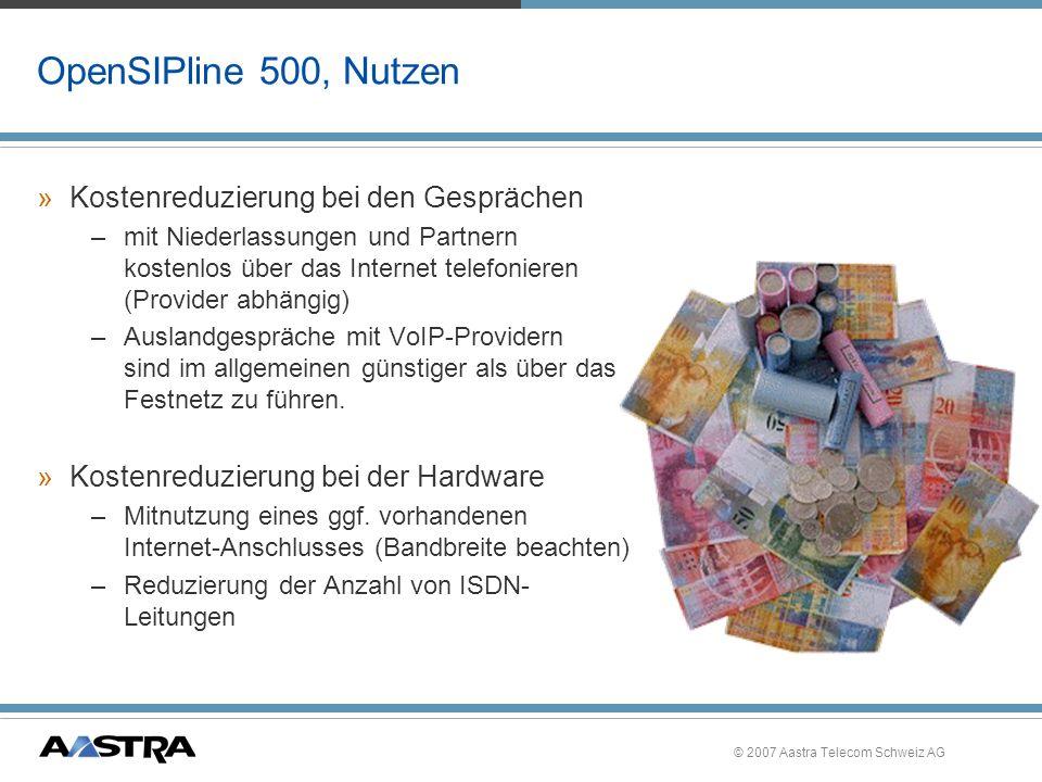 OpenSIPline 500, Nutzen Kostenreduzierung bei den Gesprächen