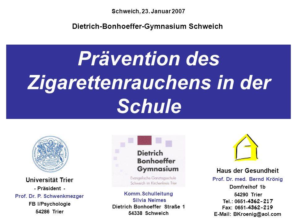 Prävention des Zigarettenrauchens in der Schule